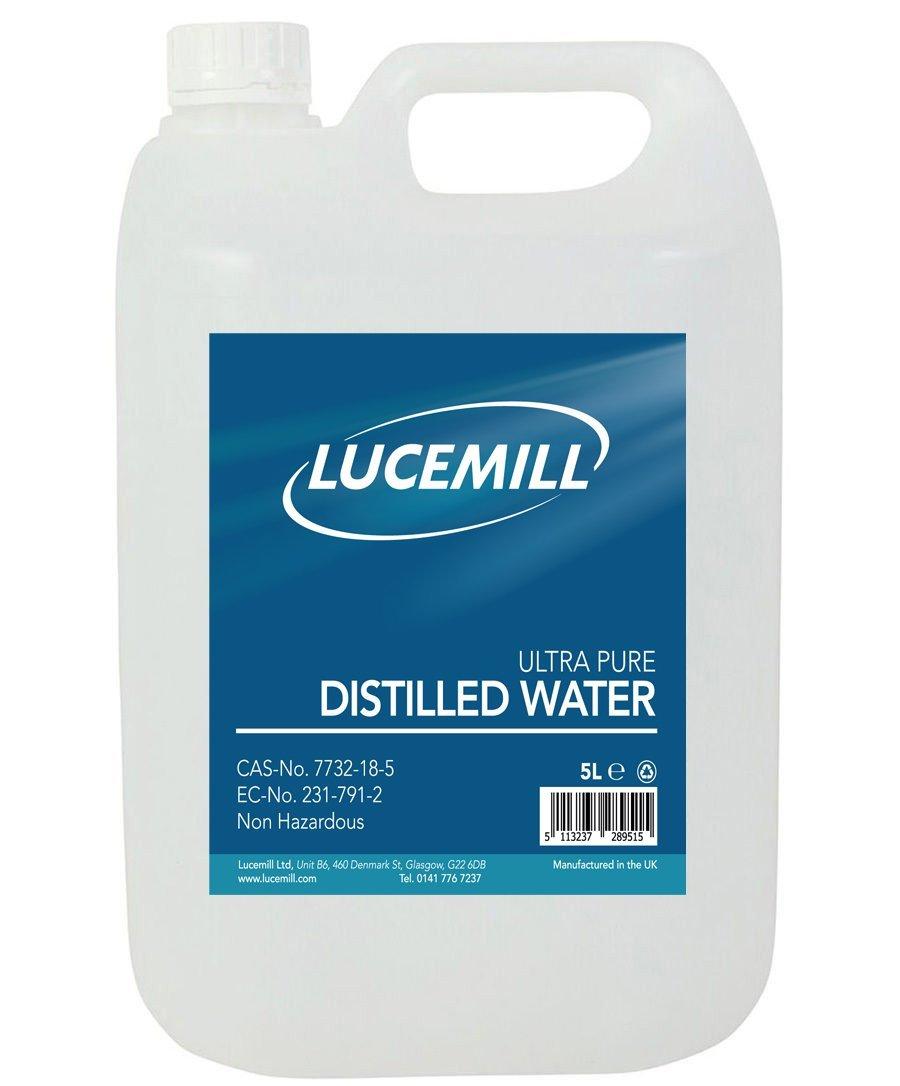 agua destilada para pompas