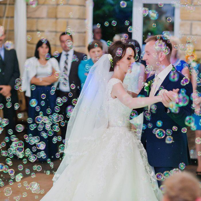 boda con pompas de jabon
