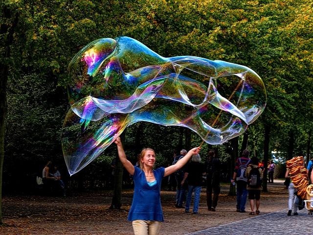 burbujas gigantes jabon